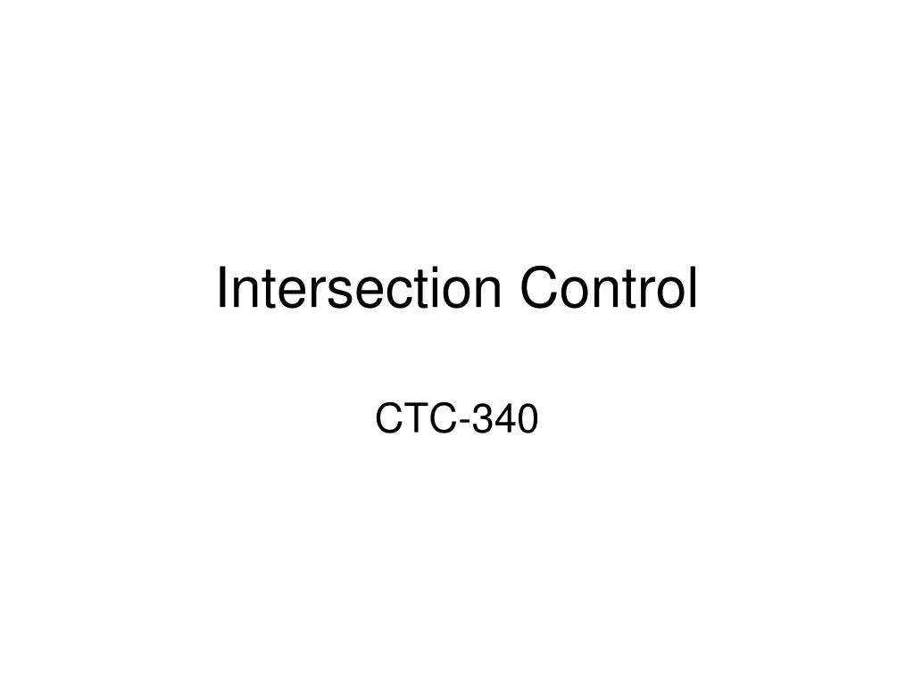 Intersection Control