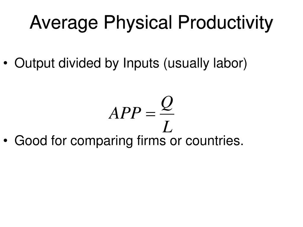 Average Physical Productivity