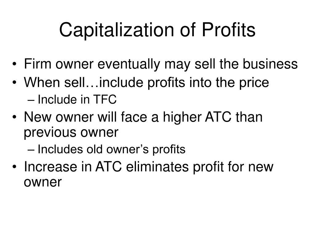 Capitalization of Profits