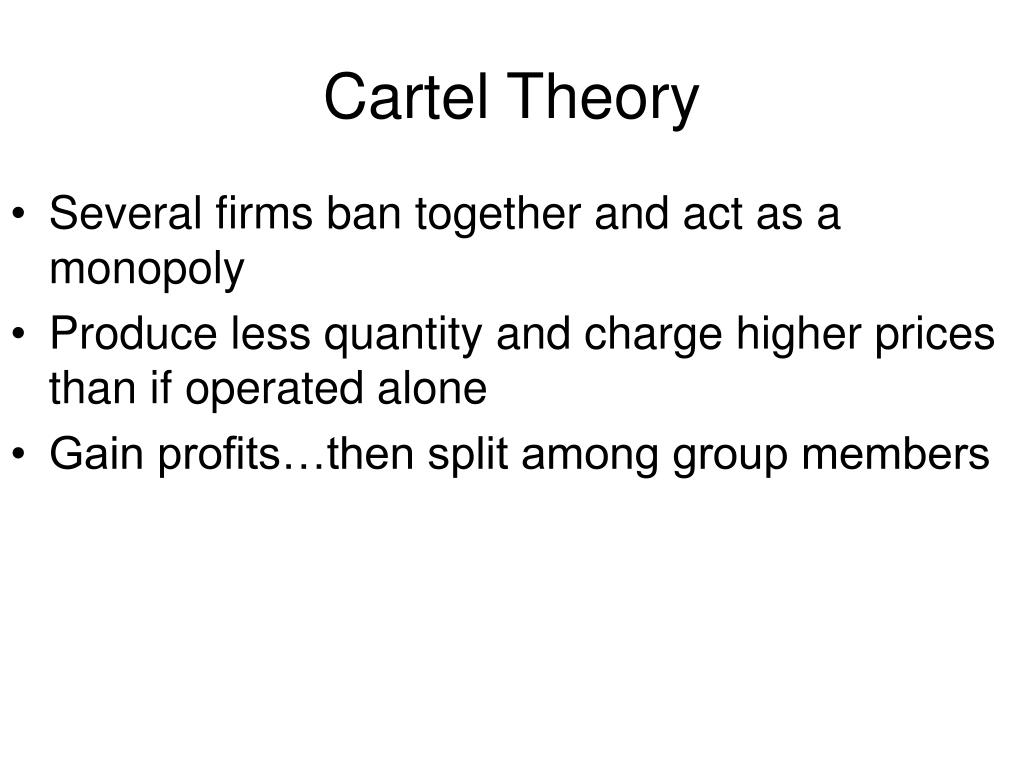 Cartel Theory