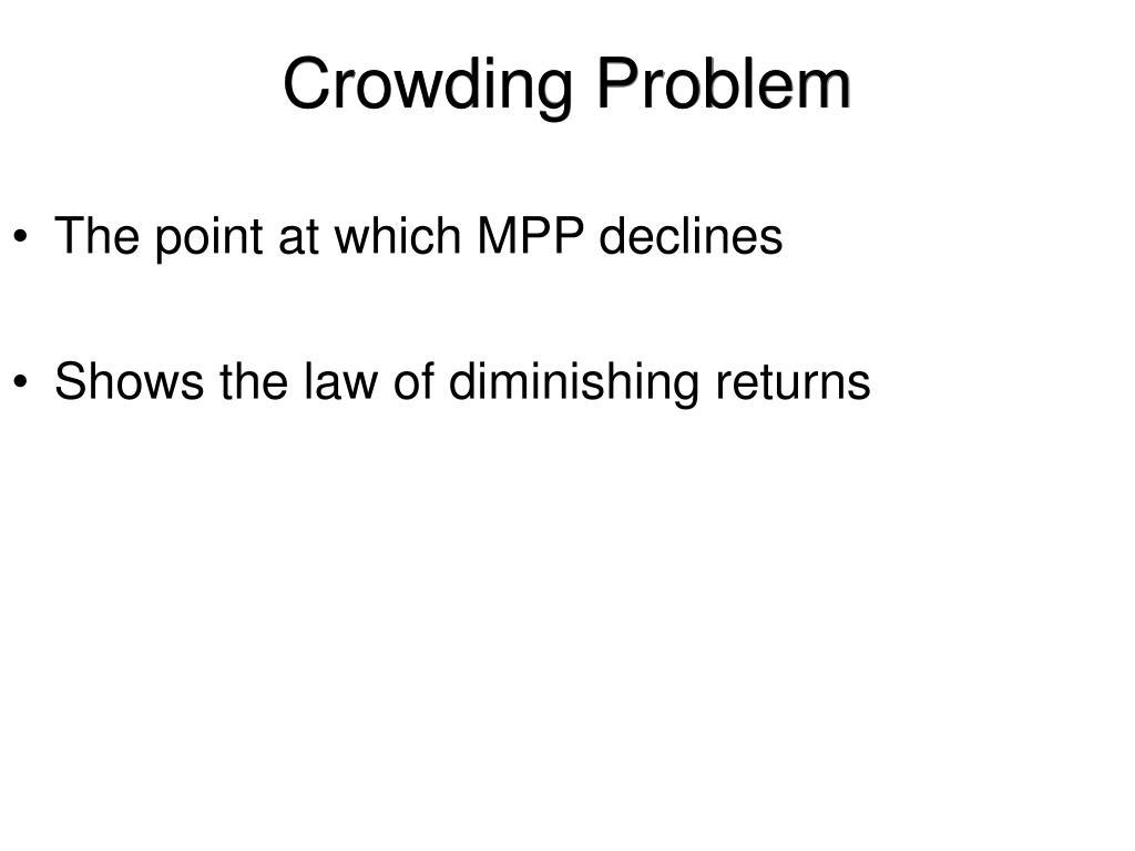 Crowding Problem