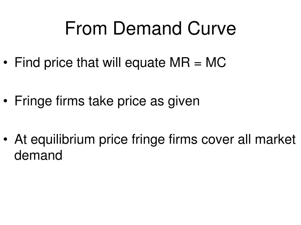 From Demand Curve