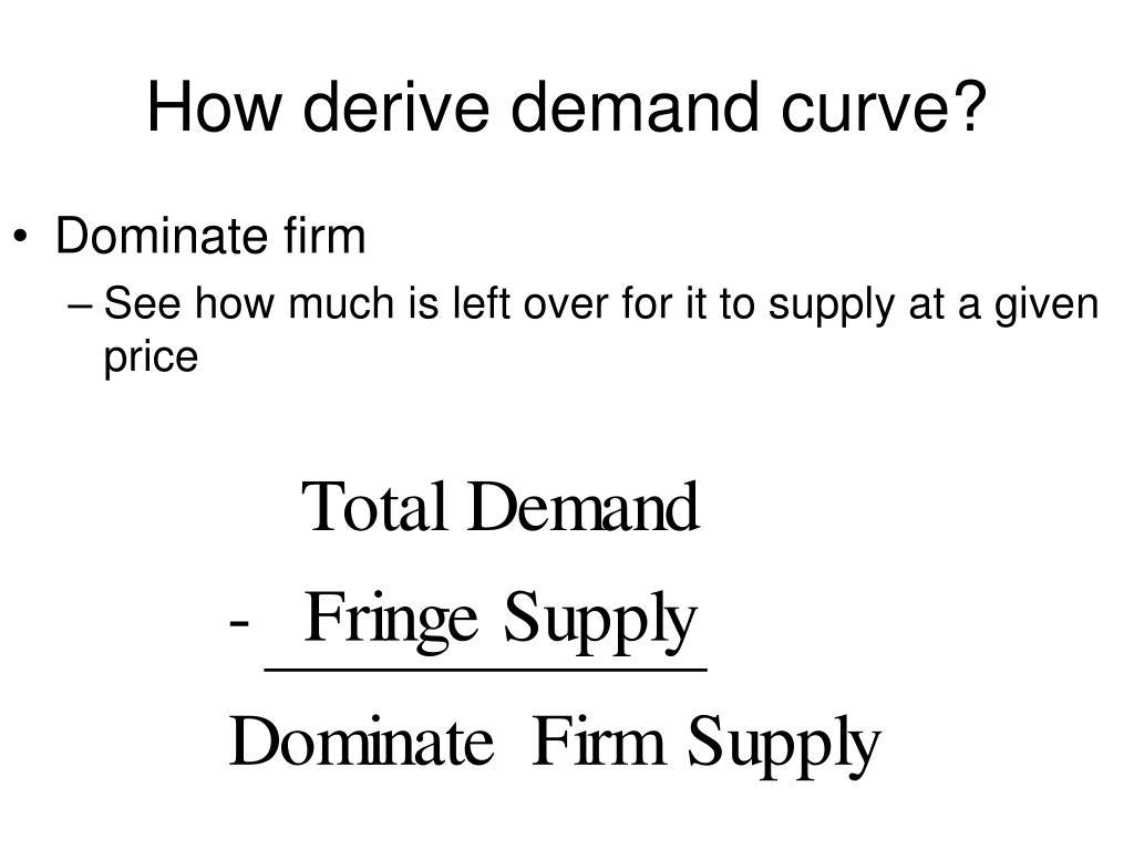 How derive demand curve?