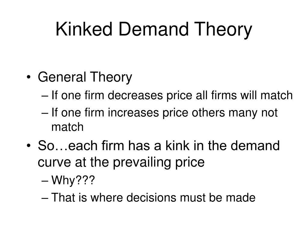 Kinked Demand Theory