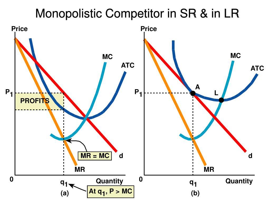 Monopolistic Competitor in SR & in LR