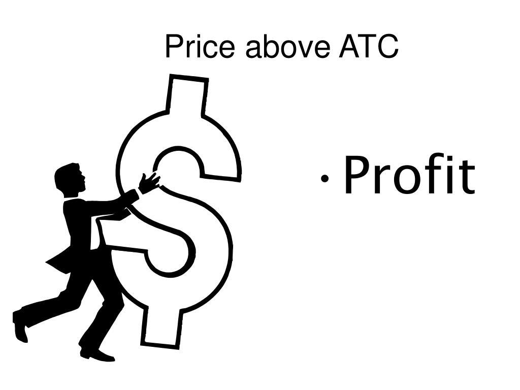Price above ATC
