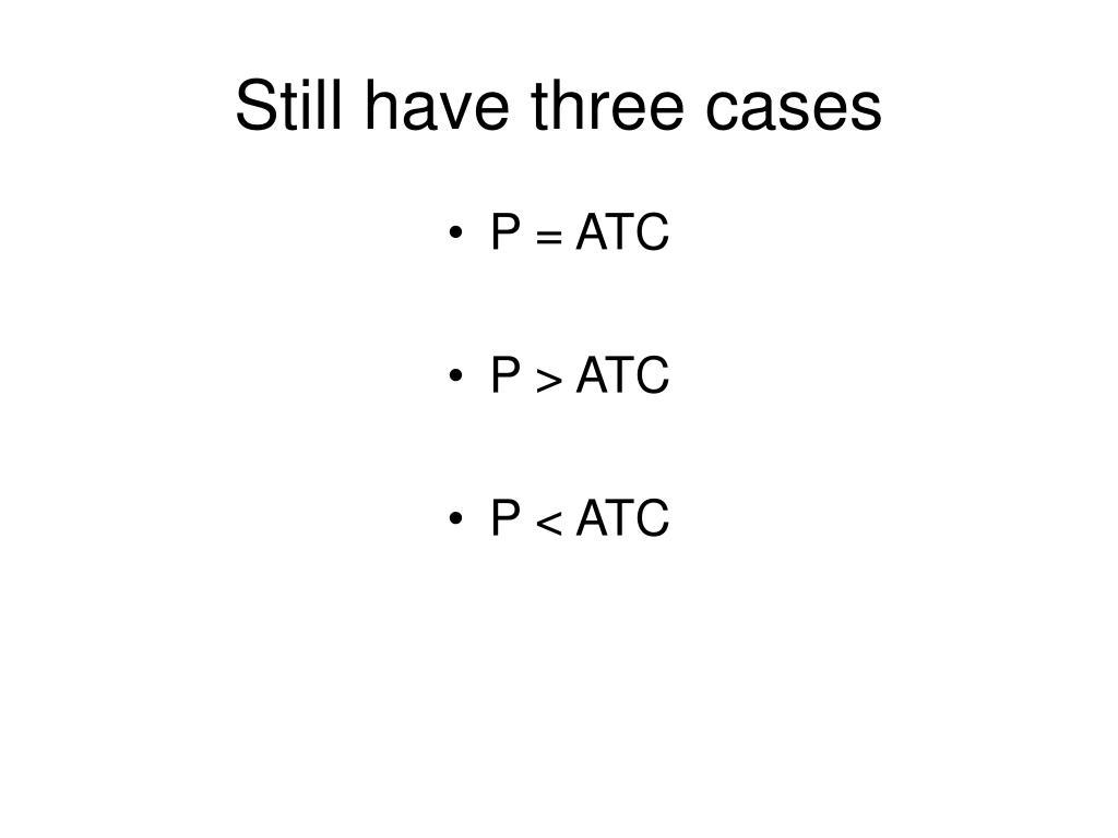 Still have three cases