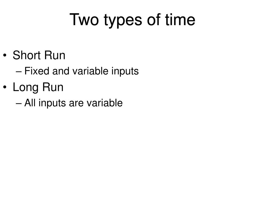 Two types of time