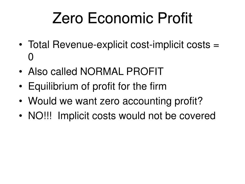 Zero Economic Profit
