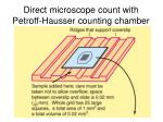 direct microscope count with petroff hausser counting chamber