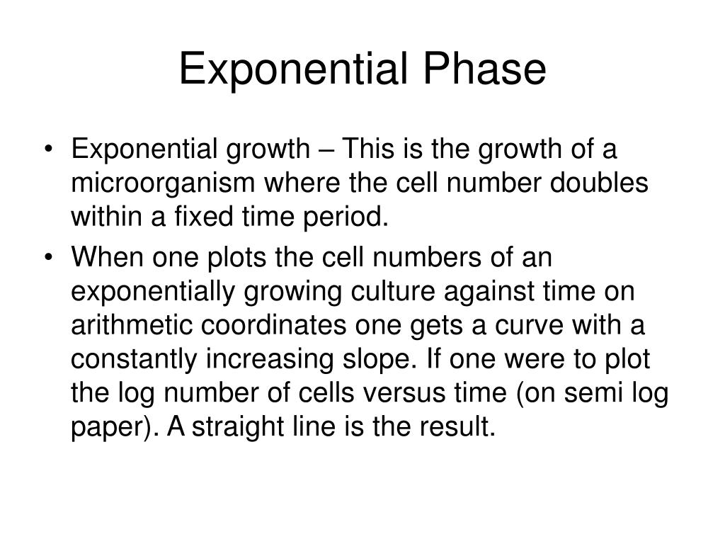 Exponential Phase