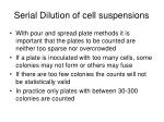 serial dilution of cell suspensions