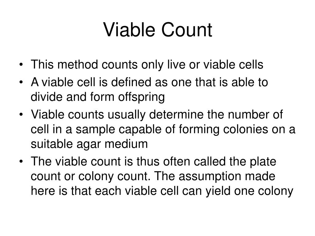 Viable Count