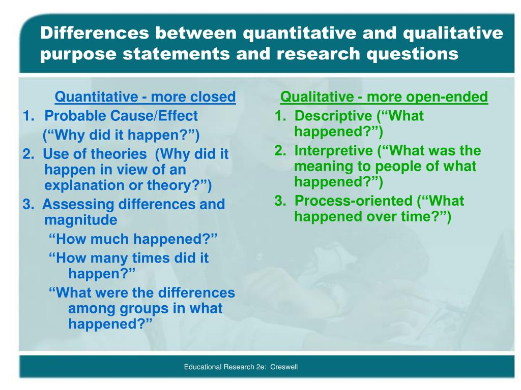 Difference in qualitative and quantitative research