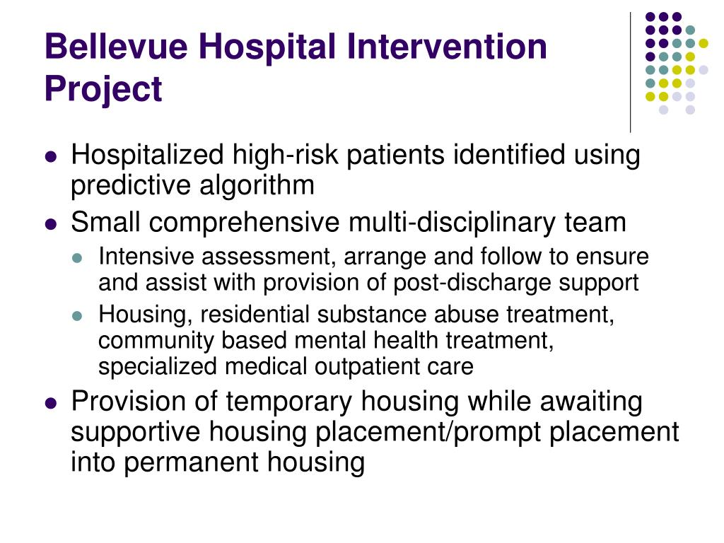 Bellevue Hospital Intervention Project