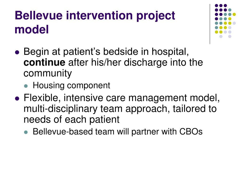 Bellevue intervention project model