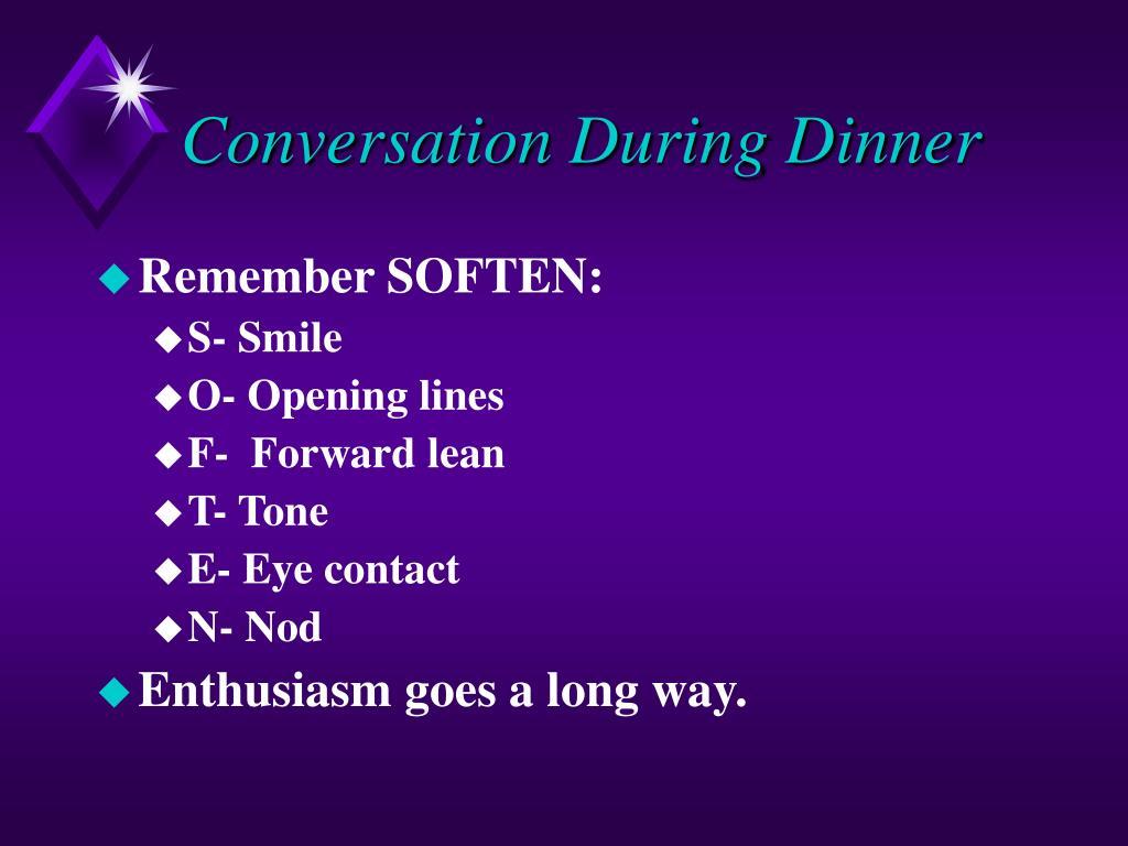 Conversation During Dinner