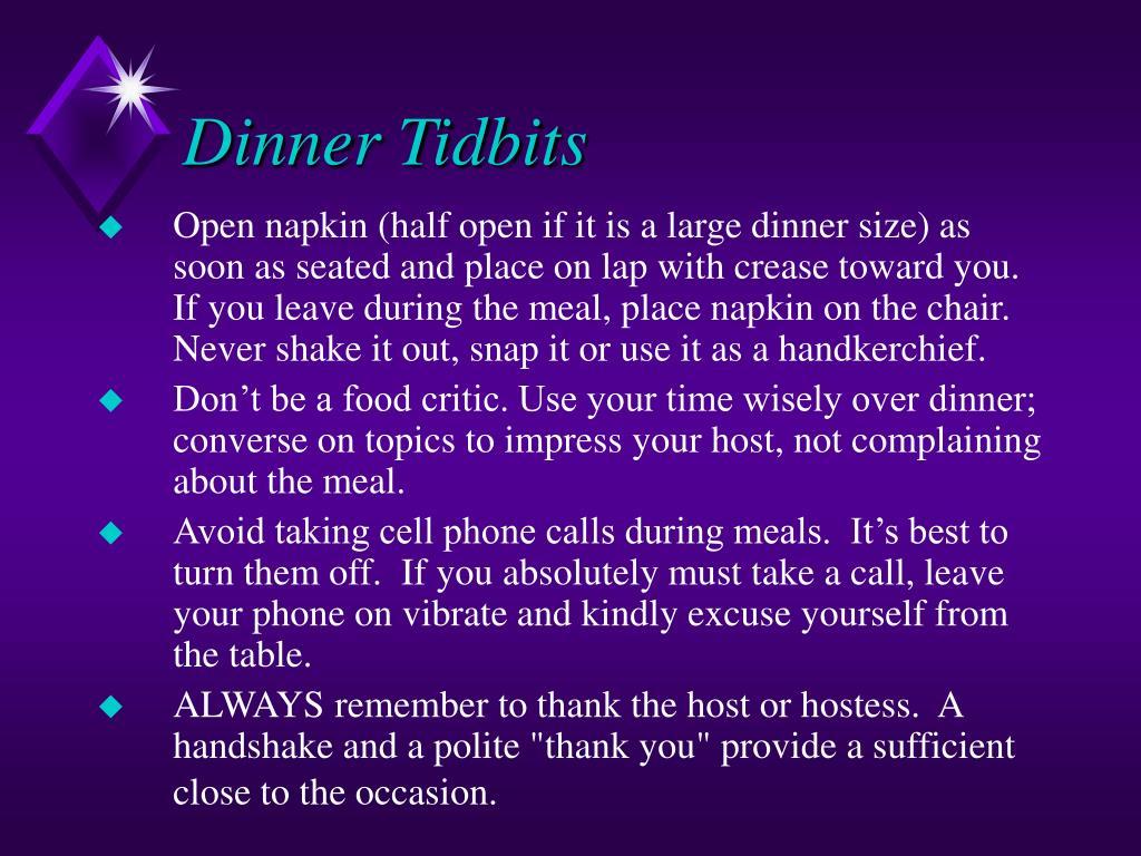 Dinner Tidbits
