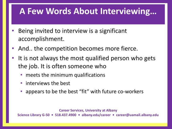 A few words about interviewing l.jpg