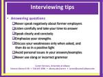 interviewing tips22