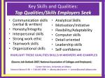 key skills and qualities top qualities skills employers seek