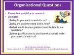 organizational questions