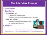 the interview process12