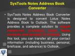 systools notes address book converter