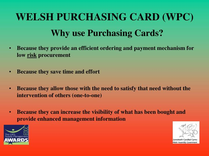 Welsh purchasing card wpc3