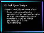 within subjects designs5