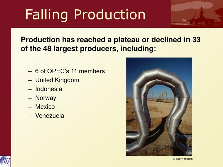 Falling Production