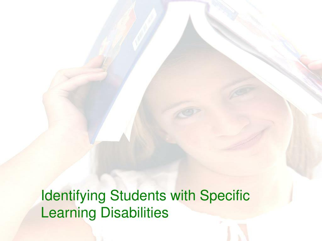 Identifying Students with Specific Learning Disabilities
