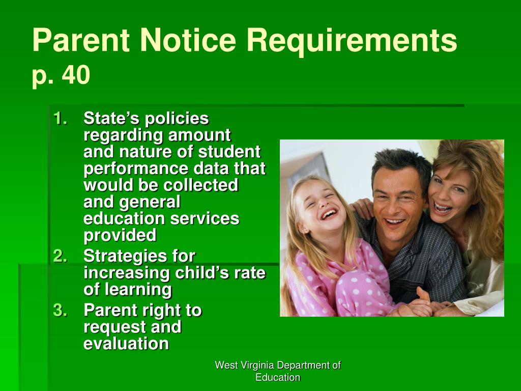 Parent Notice Requirements