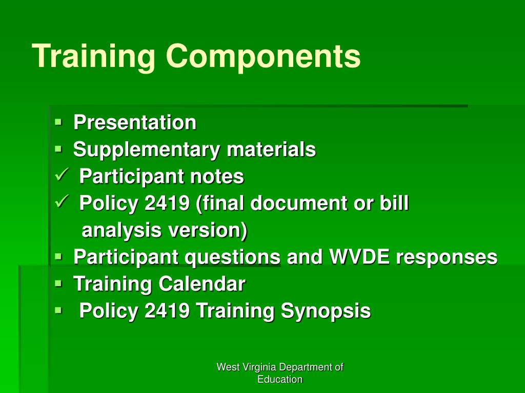 Training Components
