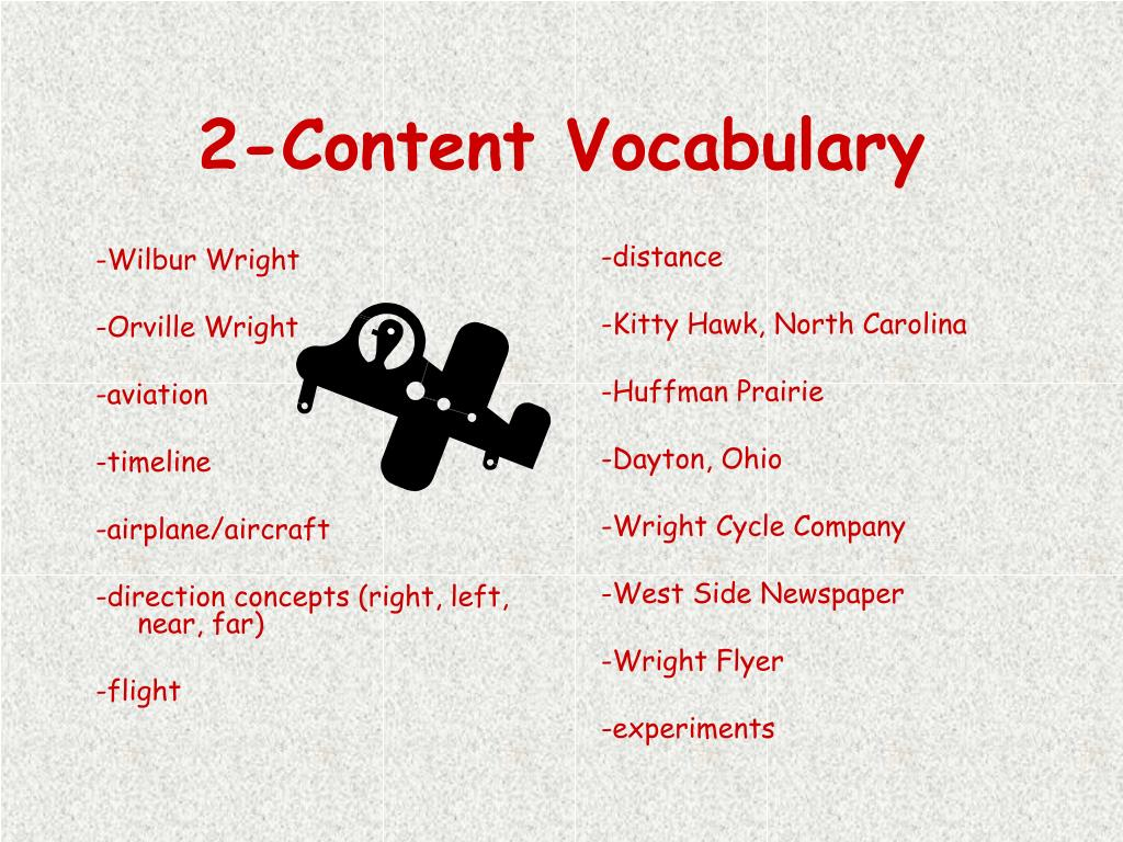 2-Content Vocabulary