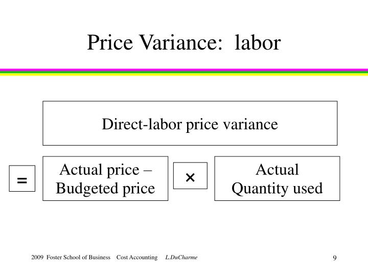 Price Variance:  labor