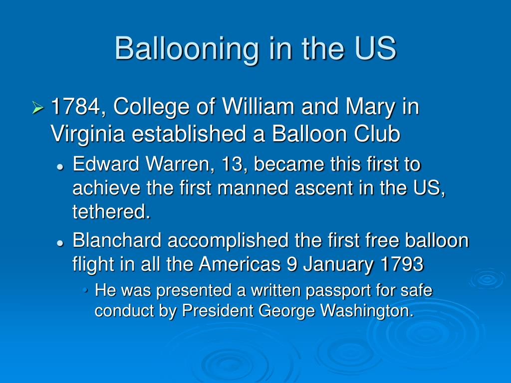 Ballooning in the US