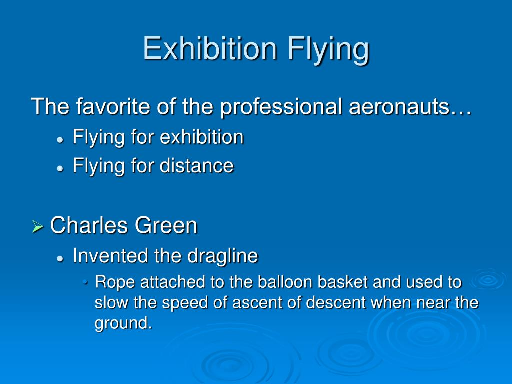 Exhibition Flying
