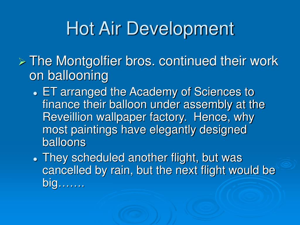 Hot Air Development