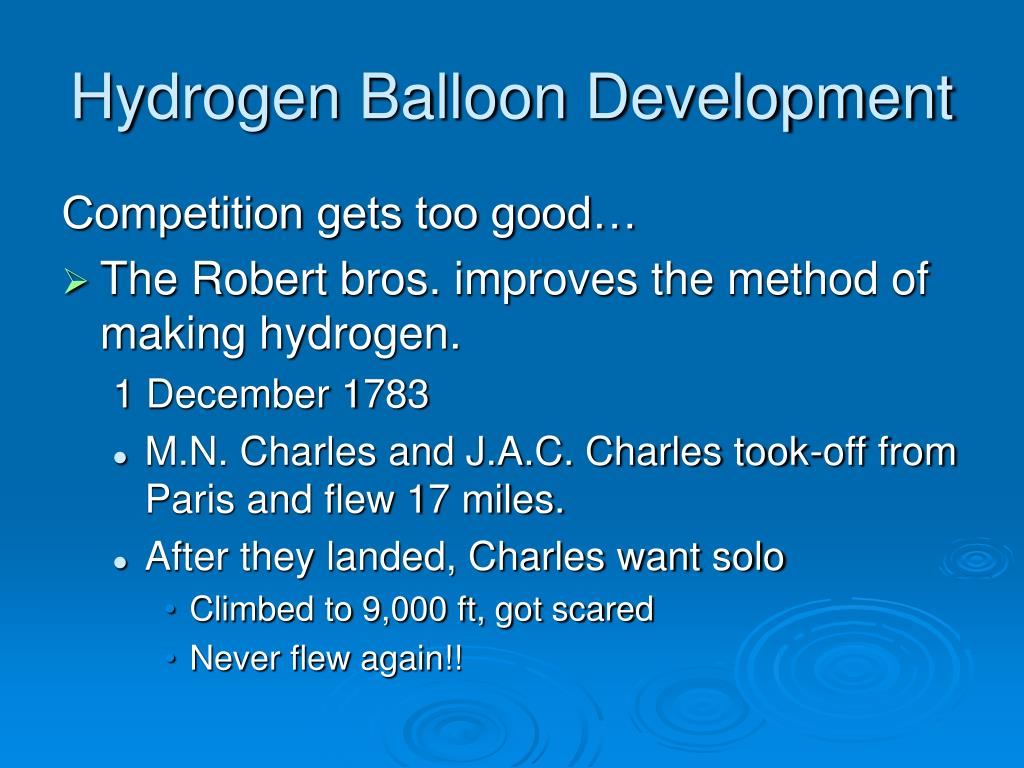 Hydrogen Balloon Development