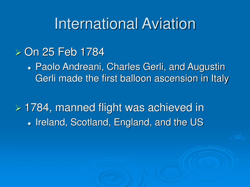 International Aviation