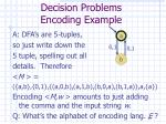 decision problems encoding example23