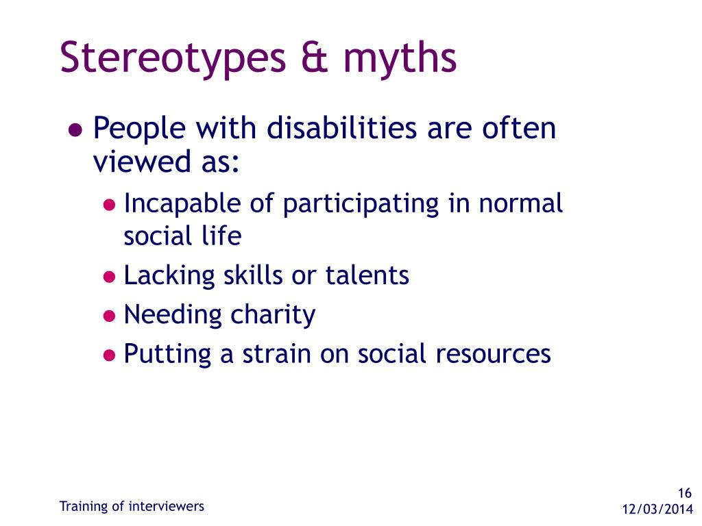 Stereotypes & myths