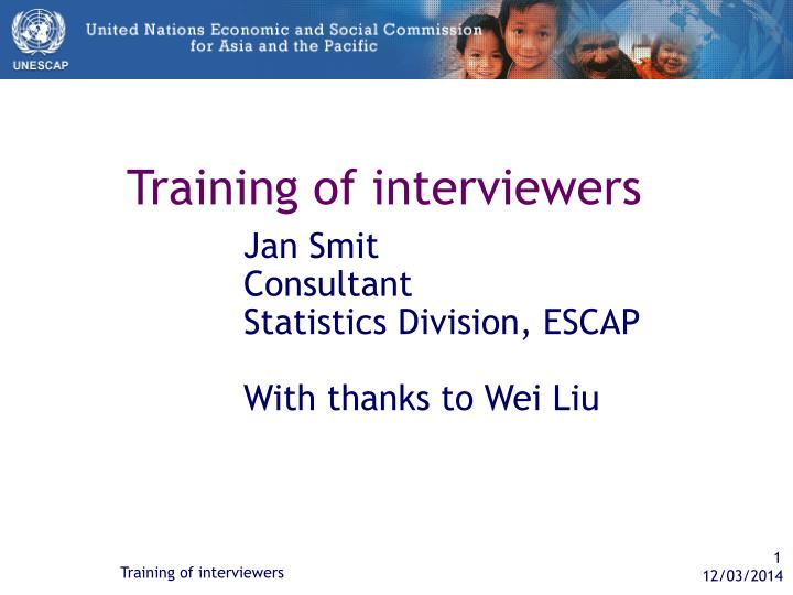 Training of interviewers l.jpg