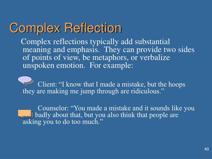 Complex Reflection