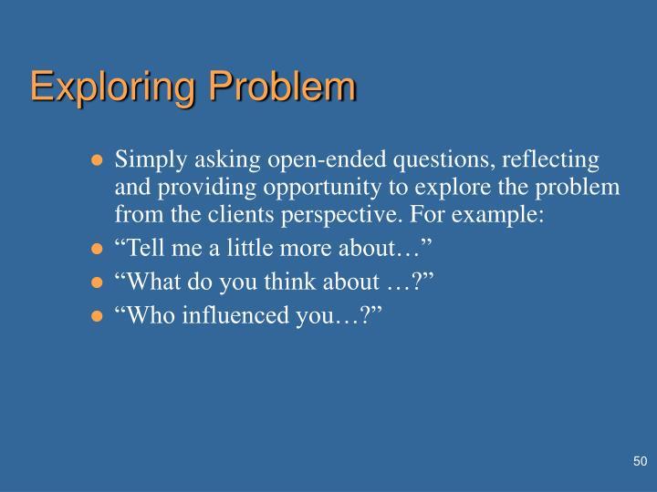 Exploring Problem