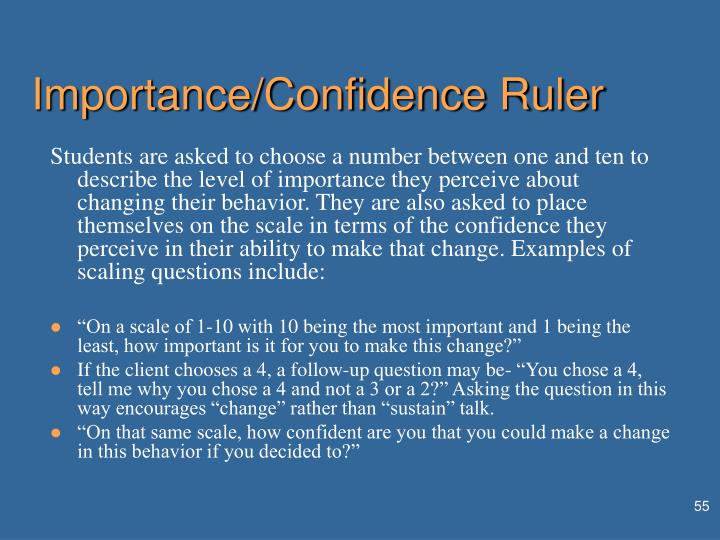 Importance/Confidence Ruler