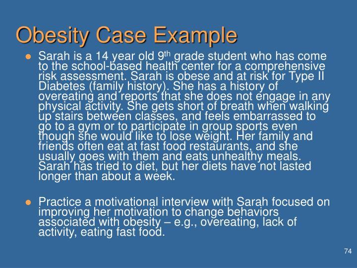 Obesity Case Example