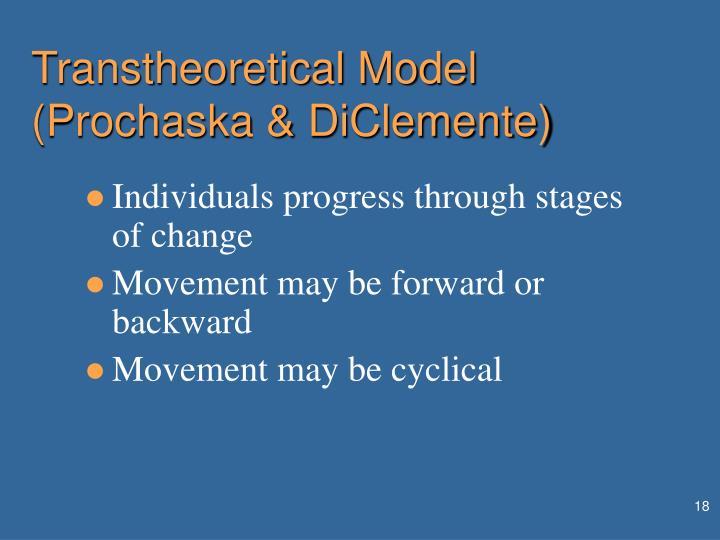 Transtheoretical Model (Prochaska & DiClemente)