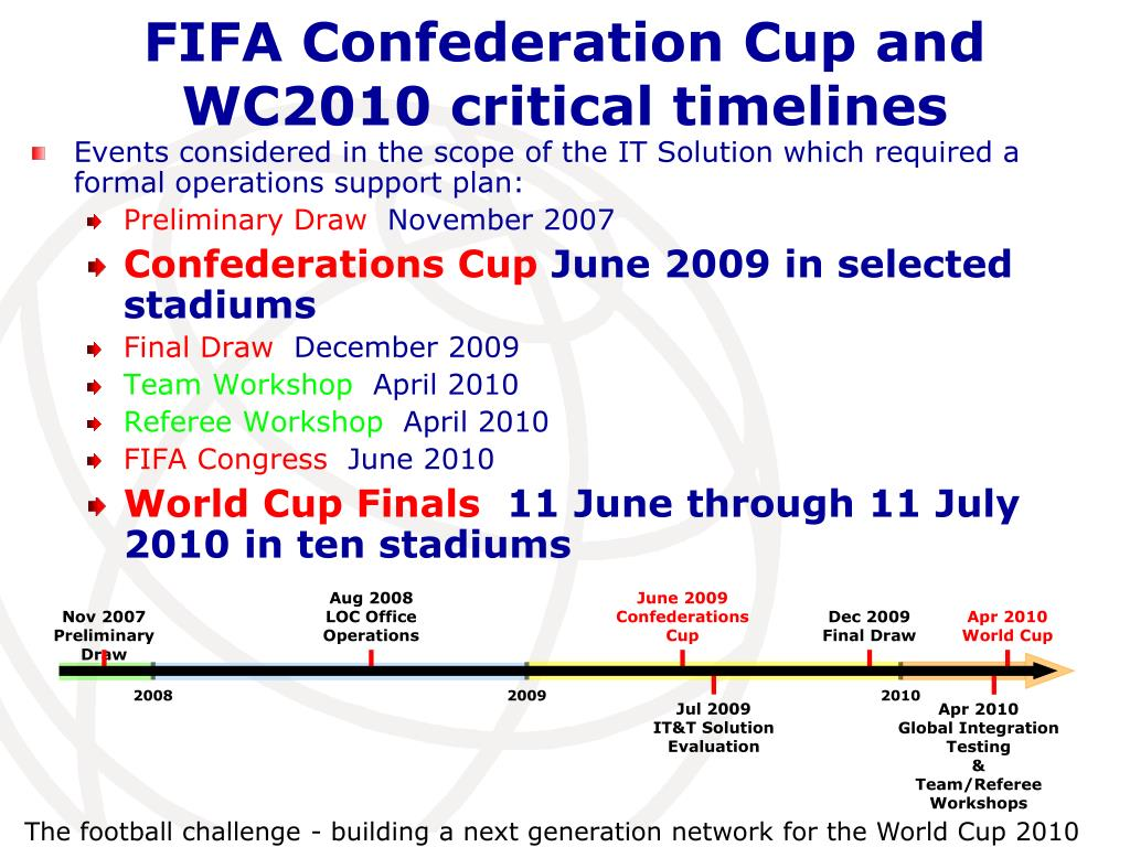 The football challenge - building a next generation network for the World Cup 2010